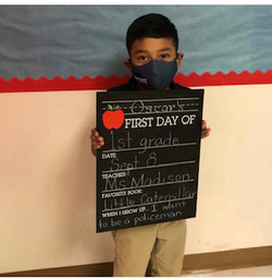 First day of School Stemmons student1