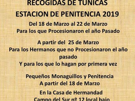 ULTIMOS DIAS DE RECOJIDAS DE TUNICAS
