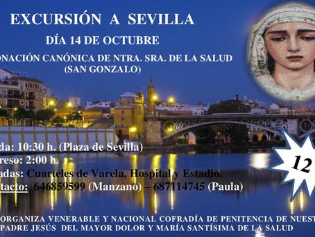 Debido a la Coronación Canónica de Ntra. Sra. de la Salud de la Hermandad de San Gonzalo (Sevilla),