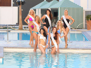 Our gorgeous royalty does a Vegas Swimsuit Shoot!!