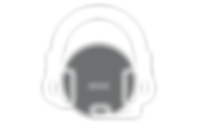Call center agent headset for listening to phone caller speech