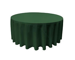 120 inch round forest green polyester ta
