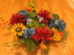 Kelli's Party Rental silk flower wreaths for rent on a budget, low price