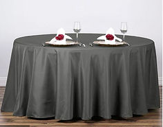 Charcoal grey tablecloths round.JPG