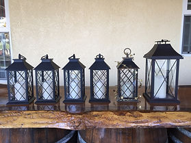 Kelli's Party Rental LED lanterns for rent on a budget, low price