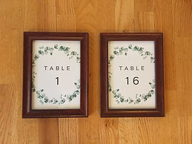 Kelli's Party Rental table numbers for rent on a budget, low price