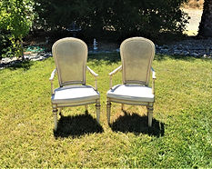 French country chairs, Kelli's Party Rentals
