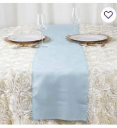 light blue polyester table runner.JPG