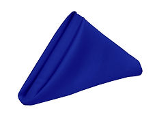 royal blue polyester linen 20x20 napkin.