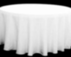 Kelli's Party Rental round tablecloths for rent on a budget, low price