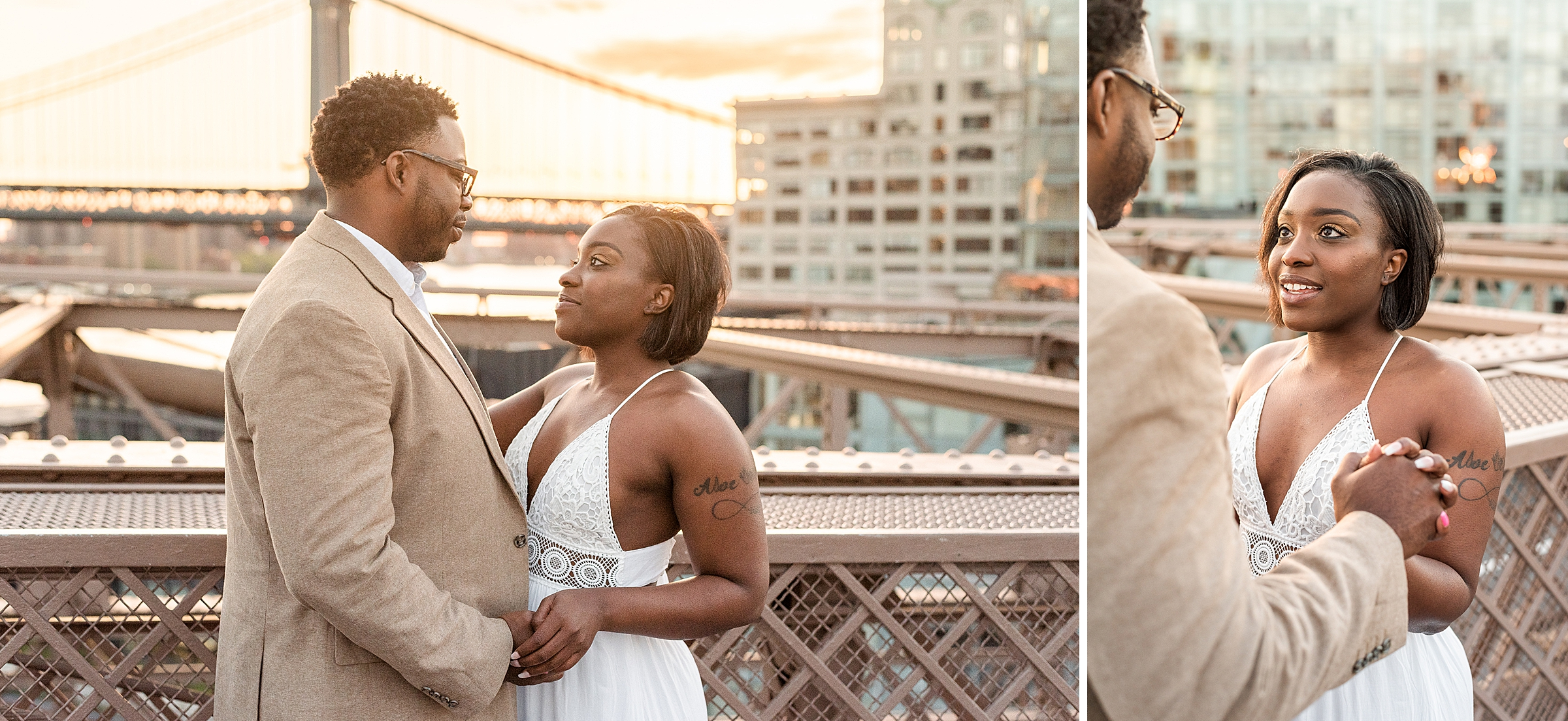 Sunrise proposal shoot in Brooklyn