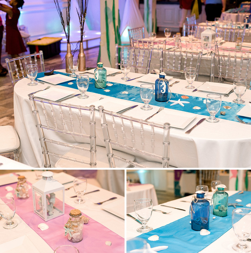 Graduation party table details by Jusskay events in Yonkers New York
