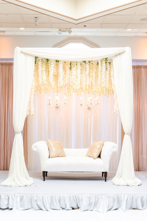 Mayuri's Floral Design light wedding backdrop