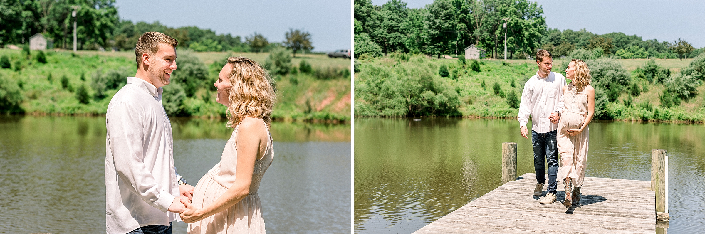 Rustic maternity photoshoot in New Jersey