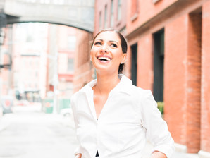 Staple Street Skybridge in SoHo NYC - Portrait Photoshoot - Naureen