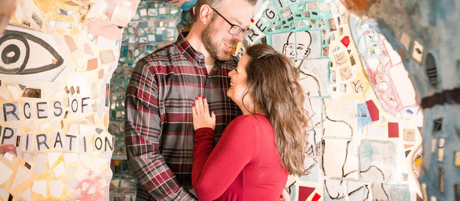 Philadelphia Magic Gardens Engagement Session | Enrica & Matt
