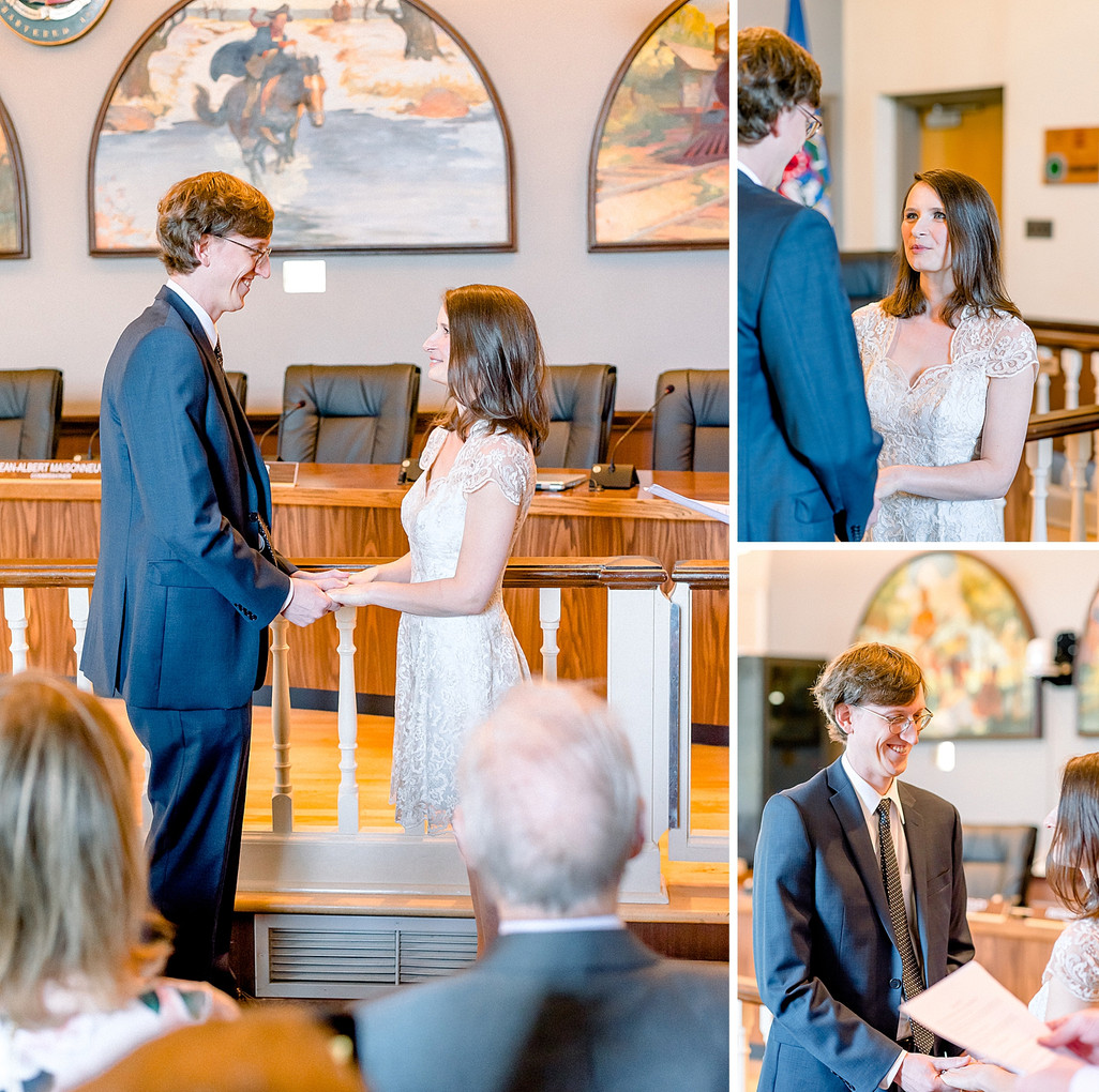 Couple exchanging vows in court in New Jersey