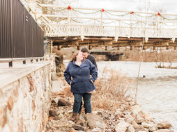 Red Mill Engagement Session in Downtown Clinton, NJ | Courtney & Paul