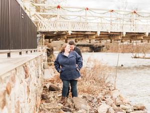Red Mill Engagement Session in Downtown Clinton, NJ   Courtney & Paul