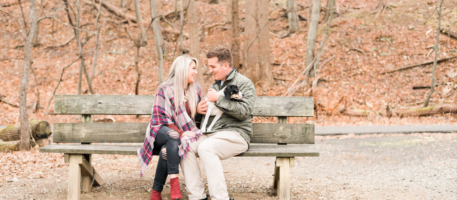Speedwell Lake Park in Morristown, NJ Couples Furbaby Session | Alyx & Tom + Cubby
