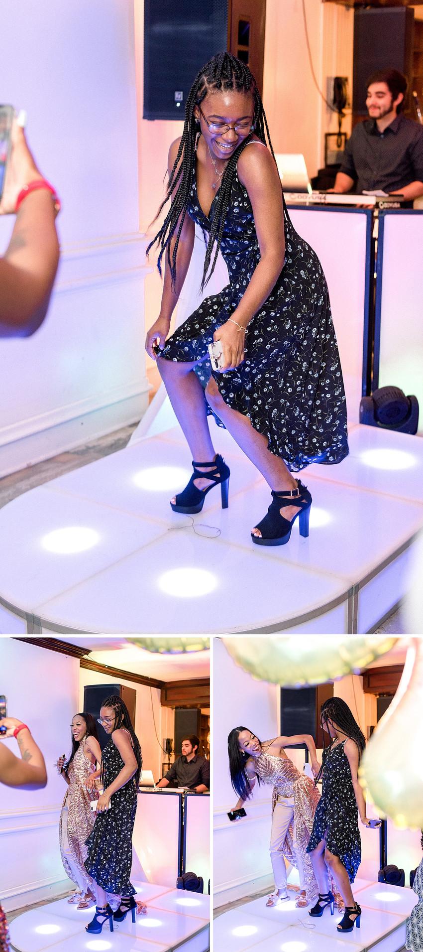 Girl dancing on a dance floor partying in New York