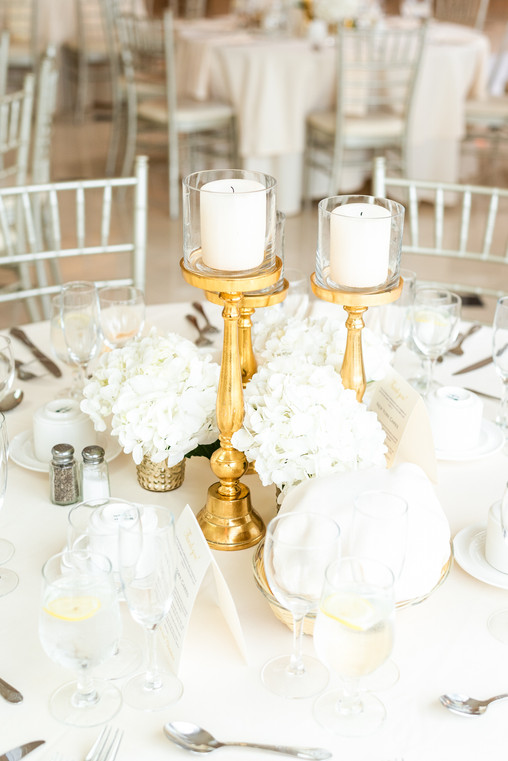 Greentree Country Club Wedding Table Details
