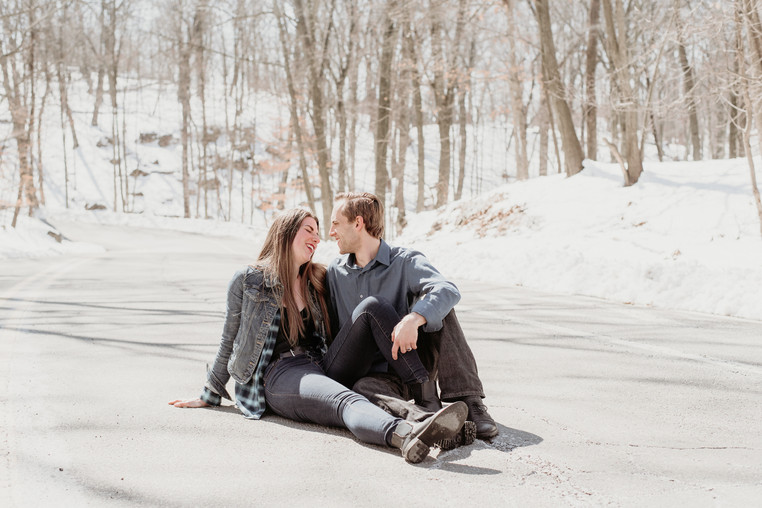 Couple laughing at Garret Mountain Reservation
