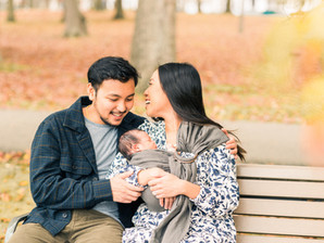 Verona Park, NJ Newborn Family Session | Jaimie & Darryl + Noah