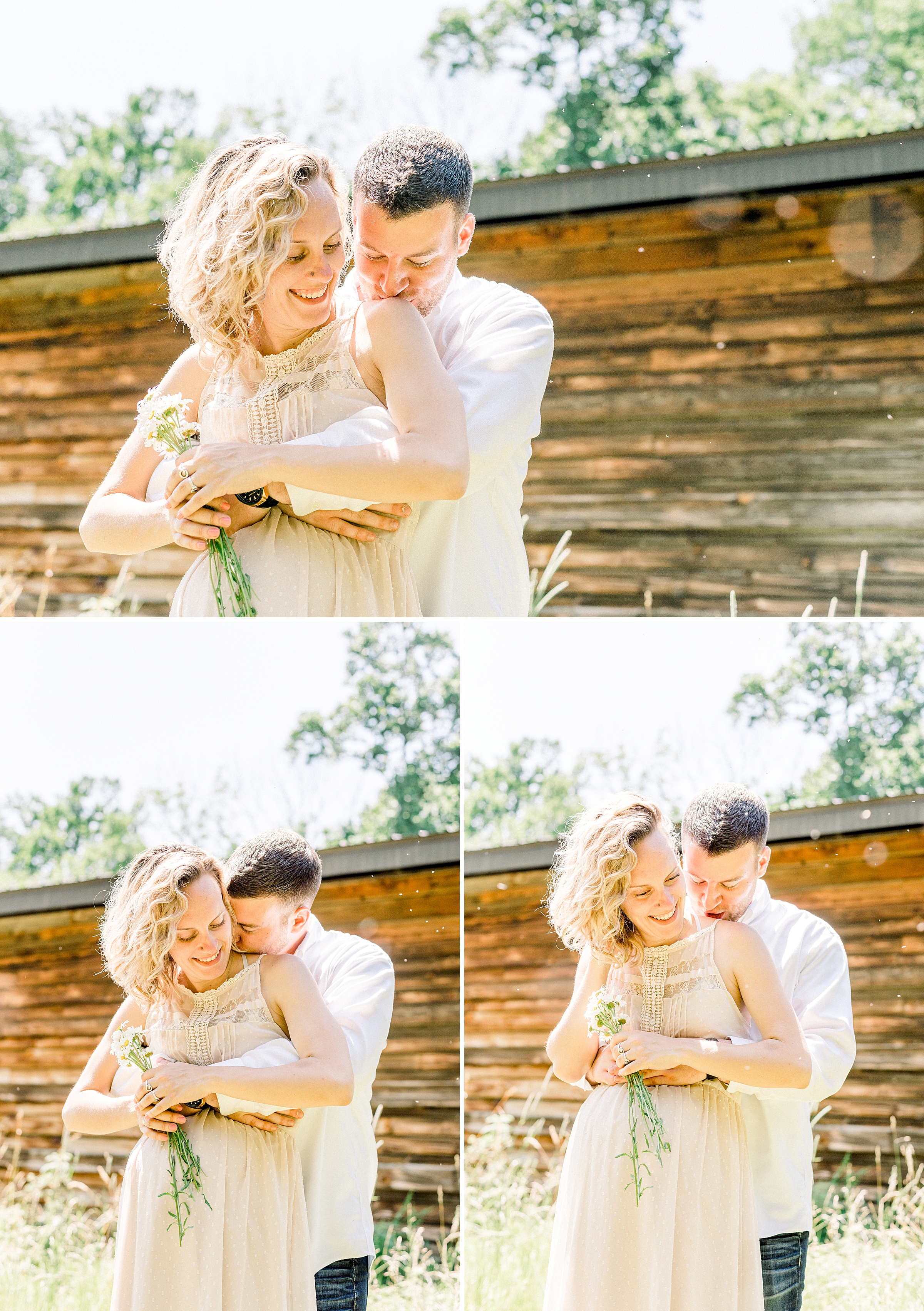 Cute rustic farm maternity session in New Jersey