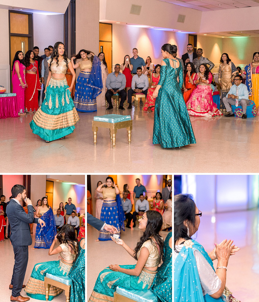 Playin musical chairs at a Sangeet ceremony in New York