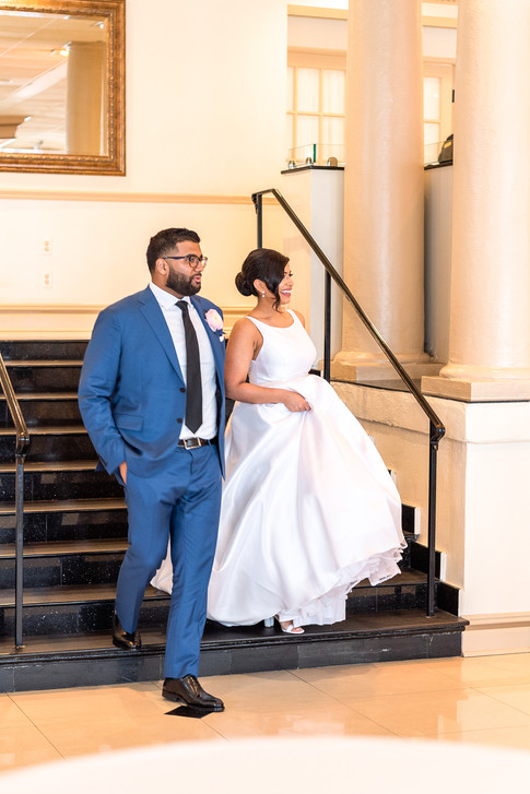 Bride and groom in New Rochelle, New York