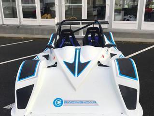 E-racing Car baptise la Flash 4 sur le circuit de Jean-Pierre Beltoise