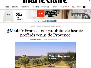 Les produits de beauté Made in France Une Olive en Provence