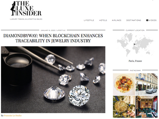 L'innovation DiamondByWay dans Luxe Insider