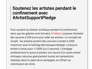 Soutenez les artistes pendant le confinement !