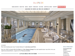 Lâcher prise total au Spa Four Seasons
