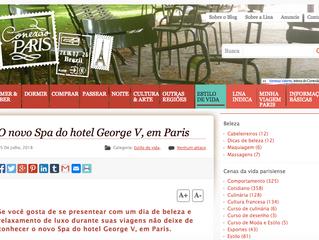 Conexao Paris au nouveau Spa de l'hôtel George V