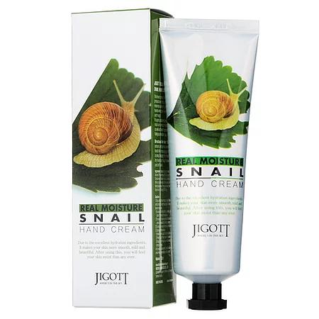 Jigott Snail Hand Cream Питательный крем для рук с экстрактом улитки