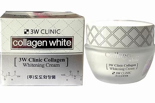 3W Clinic Осветляющий крем для лица с коллагеном