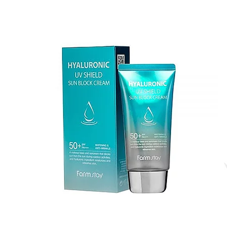 FarmStay Hyaluronic UV Shield Sun Block Cream Солнцезащитный крем для лица