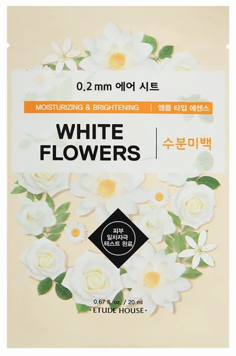 ETUDE HOUSE Тканевая маска с экстрактом белых цветов