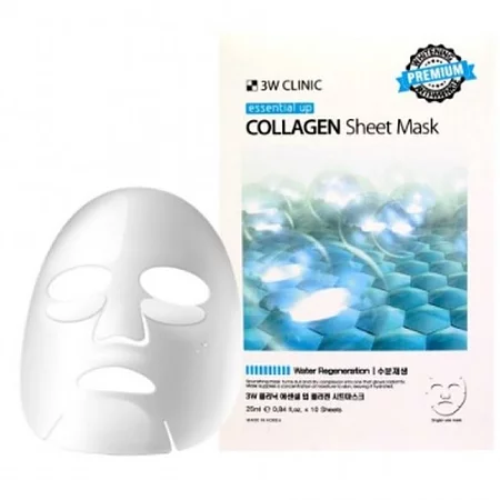 3W Clinic Essential Up Collagen Sheet Mask Увлажняющая тканевая маска