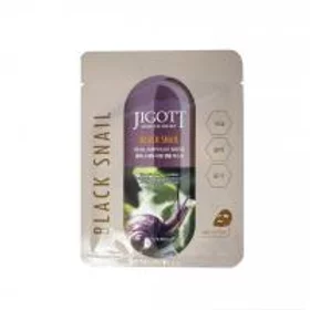 Jigott Black Snail Caviar Real Ampoule Mask Маска с экстрактом черной улитки