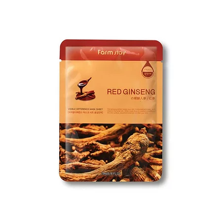 FarmStay Visible Difference Mask Sheet Red Ginseng Тканевая маска