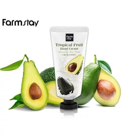 FarmStay Tropical Fruit Hand Cream Avocado & Shea Butter Крем для рук