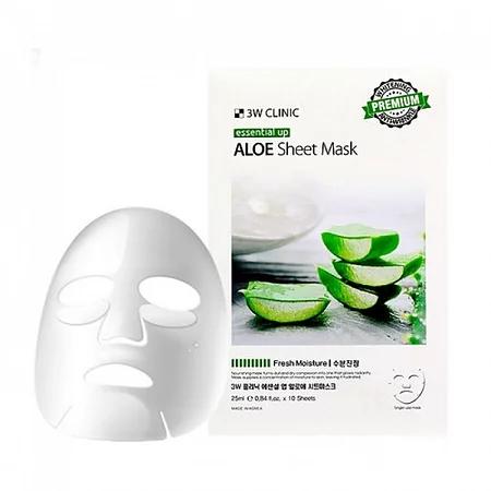 3W Clinic Aloe Essential UP Sheet Mask Тканевая маска для лица