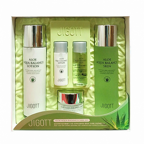 JIGOTT Aqua Balance Skin Care Set 3 Набор косметики с Алоэ