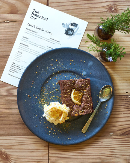 delicious chocolate brownie with ice cream - food styler and food photographer  Naima Maleika