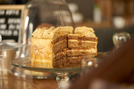 food and beverage photography of decadent carrot cake by Naima Maleika