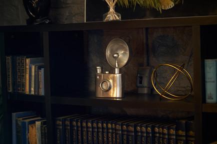 dark interior design photographed by Naima Maleika